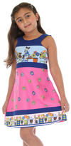 Pink Candy Tie-Back Dress - Toddler & Girls