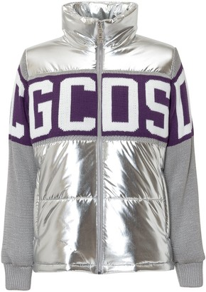 GCDS Knit-Panelled Puffer Jacket