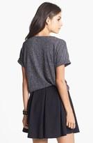 Hip Box Pleat Textured Skirt (Juniors)