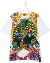 Roberto Cavalli teen printed T-shirt - kids - Cotton/Spandex/Elastane - 16 yrs
