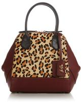 Sharif Amy Leather and Haircalf Tote/Satchel