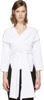 Rosetta Getty White Wrap Panel Blouse