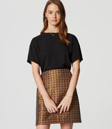 LOFT Geo Garden Shift Skirt