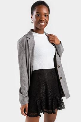 francesca's Meagan Mini Lace Skirt - Black