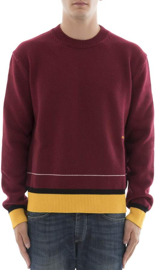 Calvin Klein Bordeaux Wool Sweatshirt