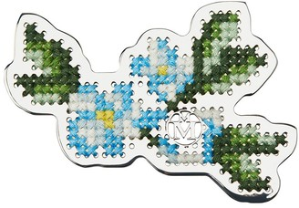 Maison Michel Marlene embroidered floral brooche