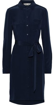 Diane von Furstenberg Prita Belted Silk Shirt Dress