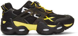 Polo Ralph Lauren Black and Yellow RLX Tech Sneakers
