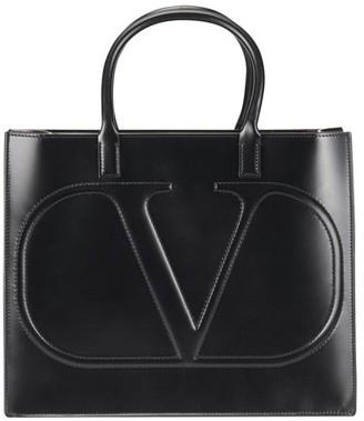 Valentino Logo Double Handle Bag