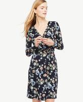 Ann Taylor Petite Wild Flower Wrap Dress