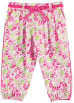 Mayoral Pleated Floral Harem Pants, Pink, Size 12-36 Months