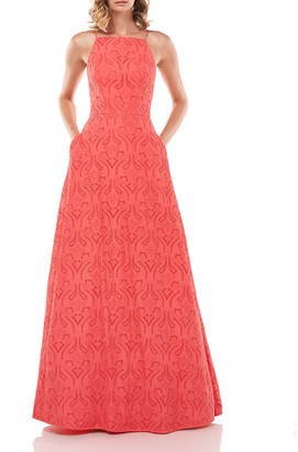 Katie Eyelet Embroidered Ball Gown