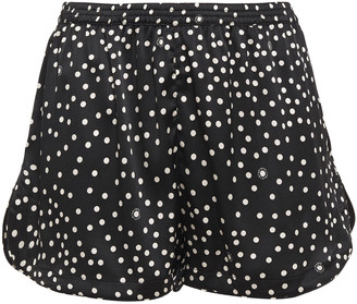 Stella McCartney Melanie Winking Polka-dot Stretch-silk Satin Pajama Shorts