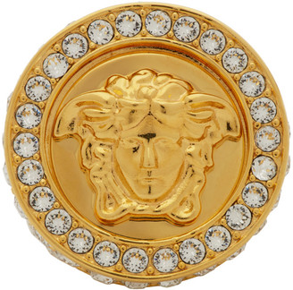 Versace Gold All Over Crystal Ring