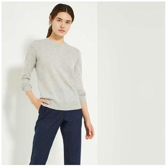 Joe Fresh Women's Cashmere Crew Neck Sweater, Dark Grey Mix (Size XS)
