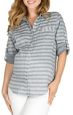 Nom Maternity Sadie Printed Cotton Shirt