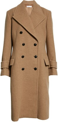 Victoria Beckham Oversize Double Breasted Wool & Cashmere Coat