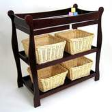 Badger Basket Cherry Sleigh Style Changing Table