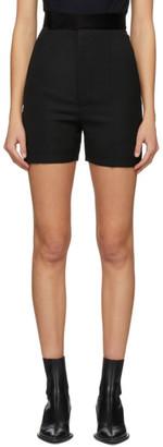 Haider Ackermann Black High-Waisted Shorts
