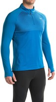 Mizuno Breath Thermo® Double-Knit Running Shirt - Zip Neck, Long Sleeve (For Men)
