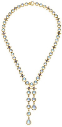 Temple St. Clair 18K Yellow Gold, Diamond & Multi-Stone Lariat Necklace