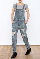 Honey Punch Distressed Overalls