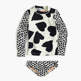 J.Crew Girls' mixed hearts rash guard