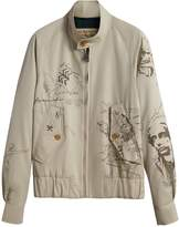 Burberry Sketch Print Harrington Jacket