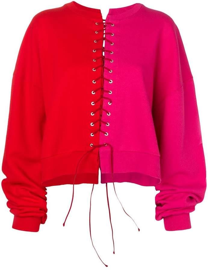 Unravel Project colour block sweatshirt