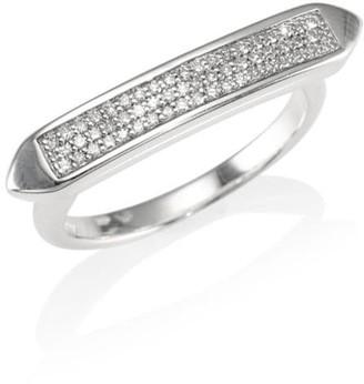 Monica Vinader Baja Diamond Skinny Ring