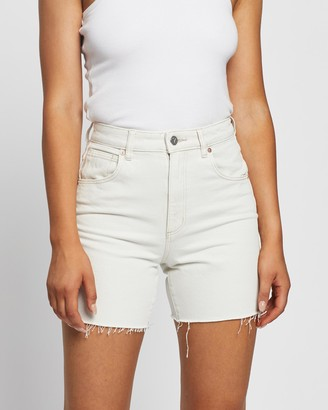 Abrand - Women's White Denim - A Claudia Cut Offs - Size 28 at The Iconic