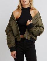 Charlotte Russe Padded Bomber Jacket