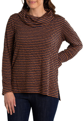 Yarra Trail Cowl Neck Stripe Top