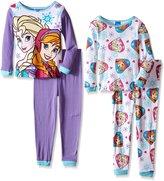 Disney Little Girls' Frozen 4-Piece PJ Set (Kid)