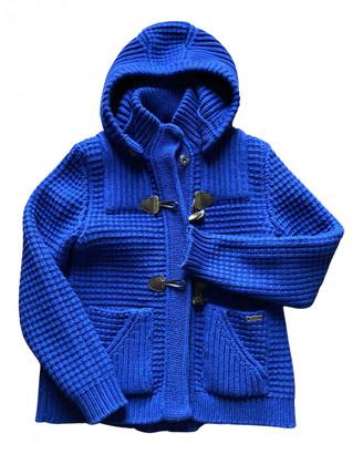 Bark Blue Wool Coats