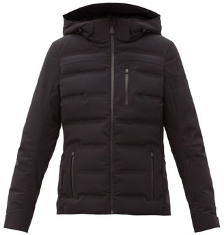 Aztech Mountain Nuke Hooded Quilted Down Ski Jacket - Black