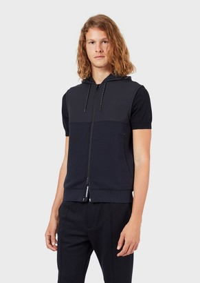 Emporio Armani Sleeveless Travel Essential Jacket In Double Jersey