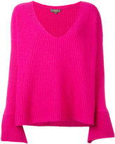 N.Peal oversize box ribbed jumper - women - Cotton/Cashmere - S