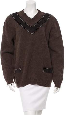Derek Lam Wool Suede-Accented Sweater w/ Tags
