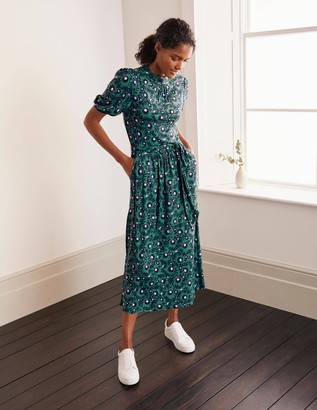 Flora Jersey Puff Sleeve Dress