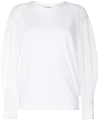 IRO Mesh-Sleeve Cotton Blouse