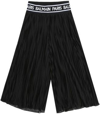 Balmain Kids Plisse pleated pants
