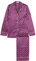 Olivia von Halle - Lila Printed Silk-satin Pajama Set - Grape