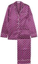 Olivia von Halle Lila Printed Silk-satin Pajama Set