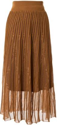 Mame Kurogouchi Layered Style Ribbed Skirt