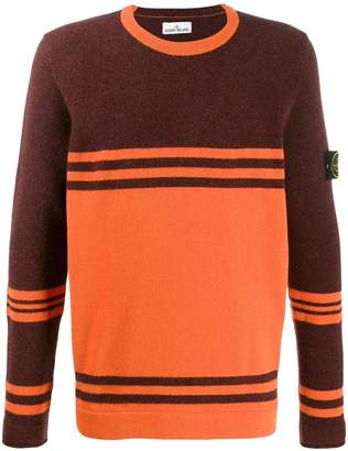Stone Island striped knit jumper