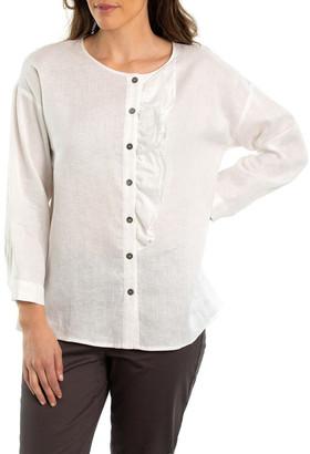 Yarra Trail Ruffle Linen Shirt