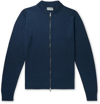 John Smedley Merino Wool Zip-Up Cardigan