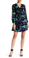 ECI Floral Print Textured Dress