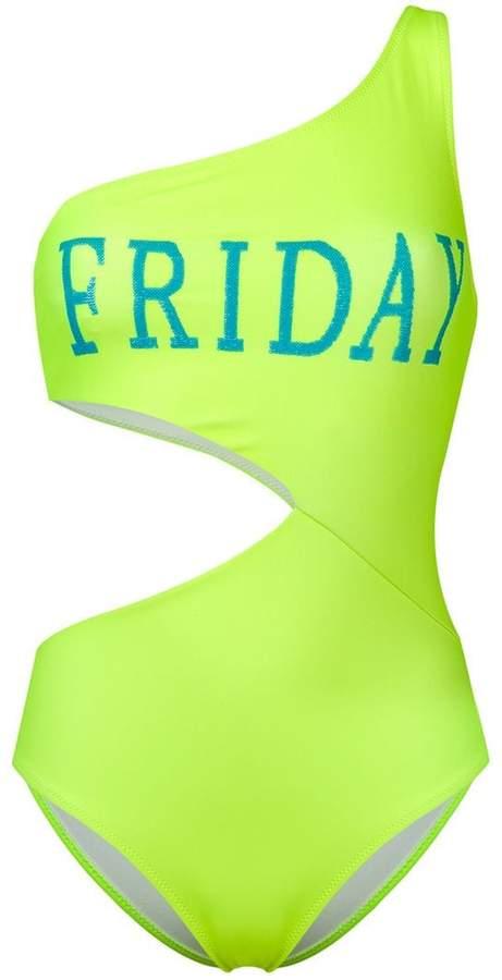 Friday print swimsuit